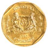 一枚新加坡美元硬币 库存图片