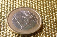 一枚欧洲硬币 库存照片