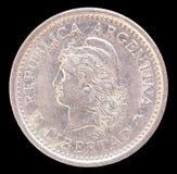 一枚比索硬币头,在1959年发布阿根廷 免版税库存照片