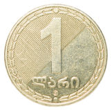 一枚英王乔治一世至三世时期Lari硬币 库存图片