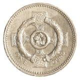 一枚英磅硬币 图库摄影