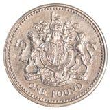 一枚英磅硬币 库存图片
