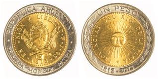 一枚阿根廷比索硬币 图库摄影