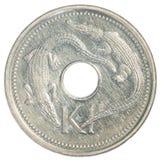 一枚巴布亚新几内亚基那硬币 库存照片