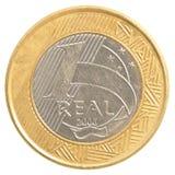 一枚巴西真正的硬币 免版税库存图片