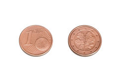 一枚eurocent硬币 库存照片