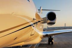 一架专用喷气机的美好的形状 免版税图库摄影