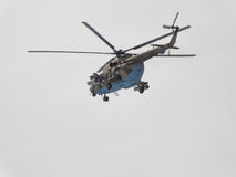 一架军用直升机Mi8 库存图片