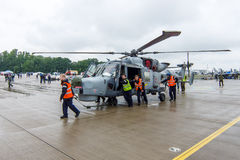 一架反潜艇和反运输直升机- AgustaWestland AW159野猫 免版税库存照片