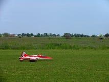 一架喷气机飞机的模型在遥控的 免版税库存图片