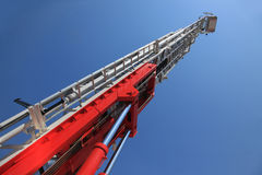 一架大火梯子 免版税库存照片
