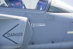 一架现代喷气机的进气孔 库存照片