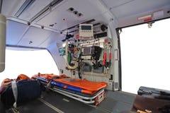 一架空的救护车直升机 免版税图库摄影