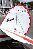 一架老双翼飞机Stampe的细节 免版税图库摄影