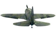 一架老战斗机的背面图 免版税库存照片