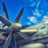 一架老飞机的引擎 图库摄影