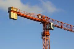 一架静态塔吊的例子在使用中在Ballyholme唐郡北爱尔兰的一个工程项目在2018年1月 库存照片