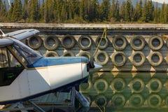 一架水上飞机的鼻子在北的BC 免版税库存照片