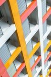 一栋五颜六色的公寓和宿舍,雷根斯堡,德国的门面, 免版税库存照片
