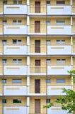 一栋居民住房的门面 免版税库存照片