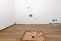 一栋新的公寓的重建 库存照片