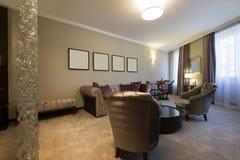 一栋现代公寓的内部 库存图片