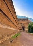 一栋皇家艾德里安乡间别墅的废墟别墅艾德里安娜在罗马附近的Tivoli, 免版税图库摄影