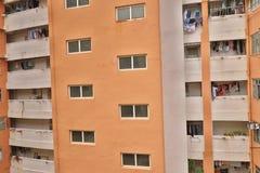 一栋被放弃的居民住房在香港市 免版税图库摄影