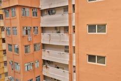 一栋被放弃的居民住房在香港市 免版税库存照片