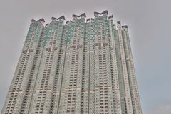 一栋hk居民住房,在九龙东部 图库摄影