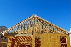 一根新的棍子修造了家庭建设中 库存图片