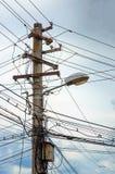一根电杆的照片 免版税库存照片