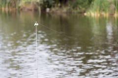 一根钓鱼竿的末端 库存照片