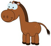 一棕色马微笑 图库摄影