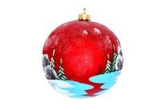 一棵新年树的圣诞节首饰 免版税库存照片