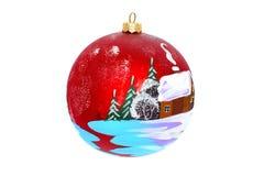 一棵新年树的圣诞节首饰 库存照片