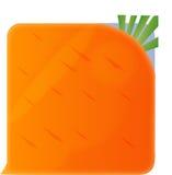 一棵方形的红萝卜 免版税图库摄影