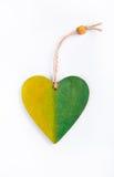 从一棵树的垂饰以心脏的形式 免版税库存图片