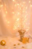 一棵白色圣诞节树 库存图片