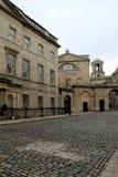 一次一部分的议会议院,建立在18世纪,在Henrietta街顶部,都伯林,爱尔兰, 2014年10月 免版税库存照片