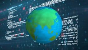 一次全球性网络攻击的数字综合 影视素材