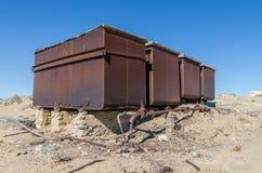 一次兴旺的德国采矿镇Kolmanskop废墟在Luderitz,纳米比亚,南部非洲附近的纳米比亚沙漠 免版税库存图片