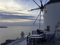 一次参观到圣托里尼美丽的海岛  希腊 免版税库存图片
