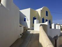 一次参观到在圣托里尼beautifull海岛  希腊 库存照片