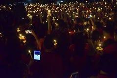 一次平安的蜡烛行动在三宝垄 免版税图库摄影