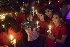 一次平安的蜡烛行动在三宝垄 免版税库存图片
