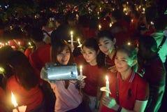 一次平安的蜡烛行动在三宝垄 图库摄影