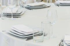 一次庆祝的美妙地装饰的桌在餐馆  库存照片