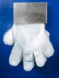 一次性塑料手套 免版税图库摄影