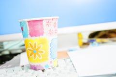 一次性的杯子 免版税库存图片